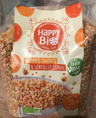 Blé-Pois chiches & lentilles corail - Product - fr