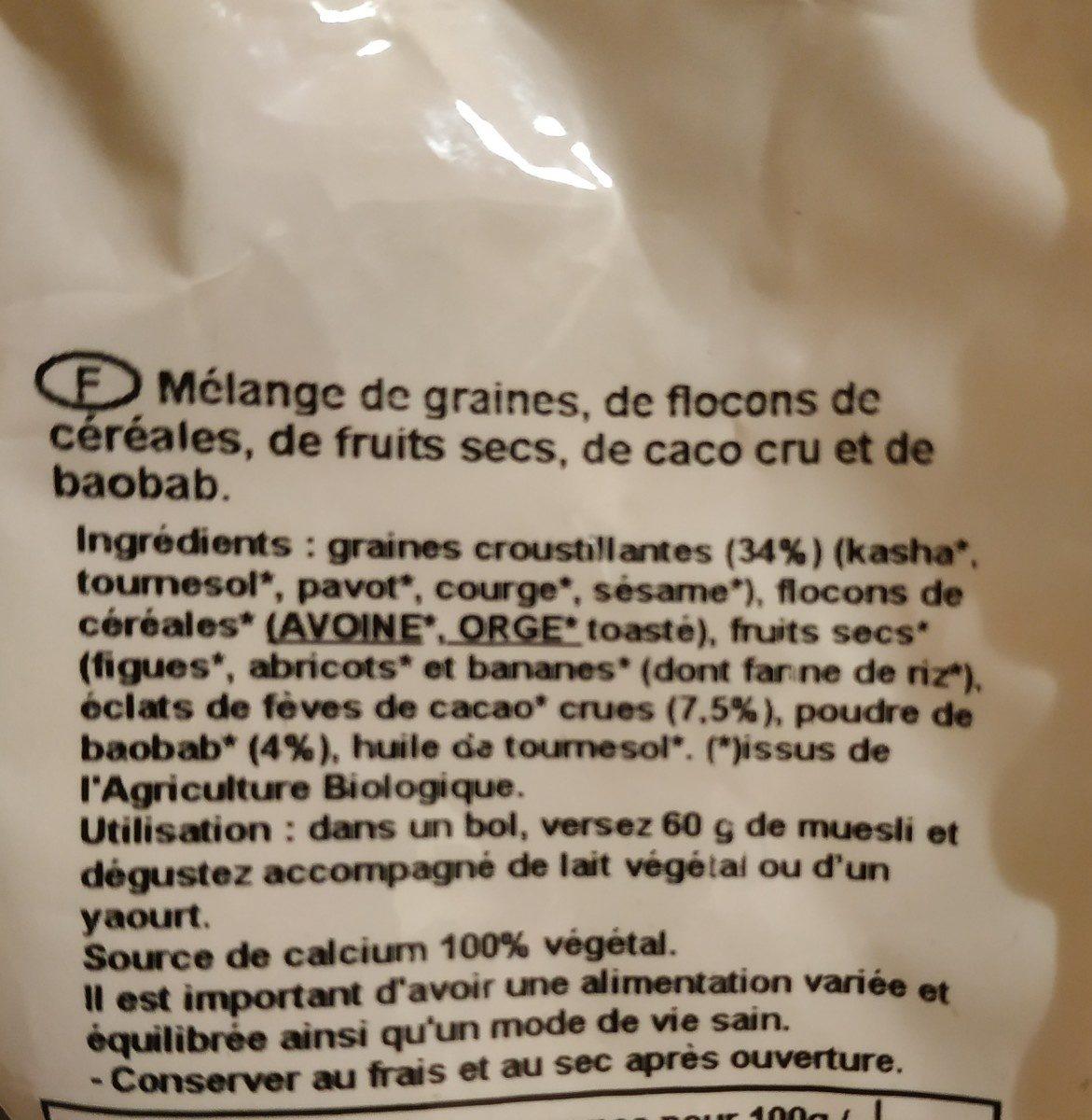 Muesli Extra Calcium - Ingredients