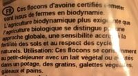 Flocons d'avoine - Ingredients - fr