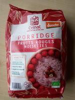 Porridge Fruits rouges Noisettes - Product - fr