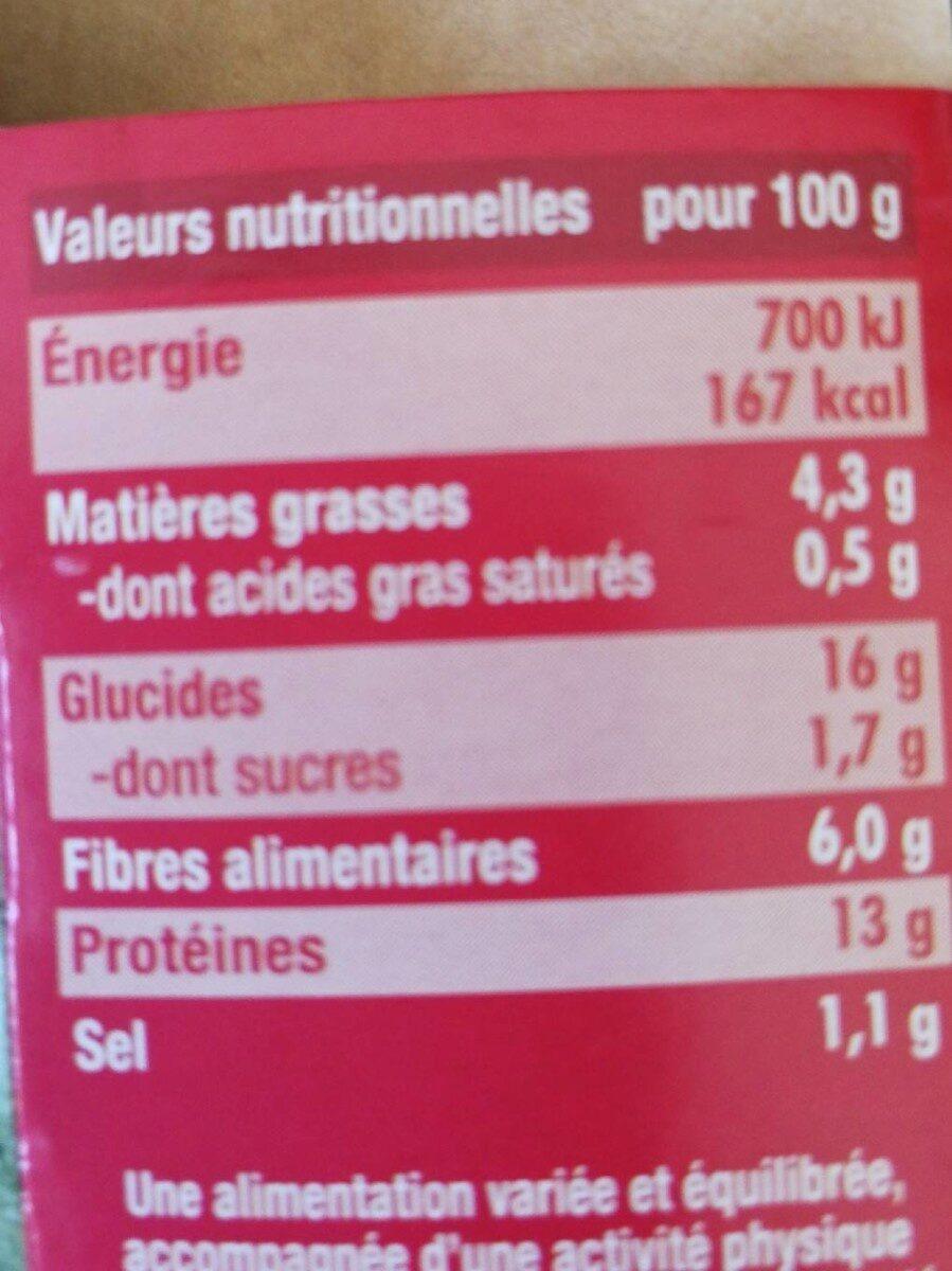 Boulettes provençales bio - Informations nutritionnelles - fr