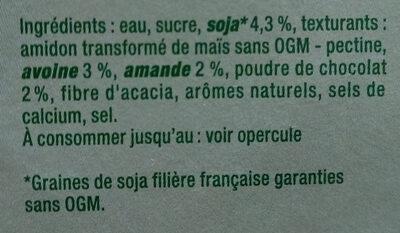 Sojasun chocolat amande - Ingredients