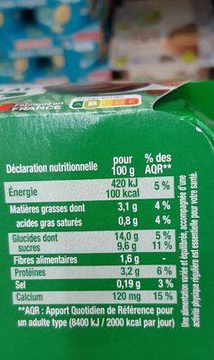Sojasun chocolat amande - Nutrition facts