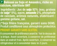 Boisson gourmande soja & amande - Ingredients - fr