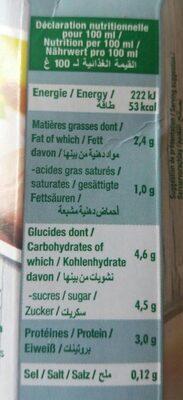 Soja et coco - Informations nutritionnelles
