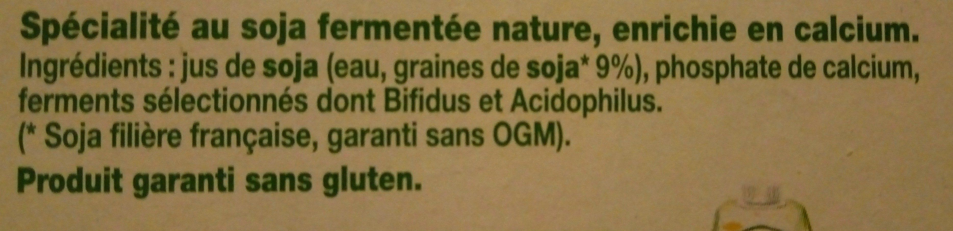Sojasun nature - Ingredients - fr