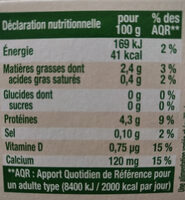 Sojasun nature sans sucre - Nutrition facts - fr