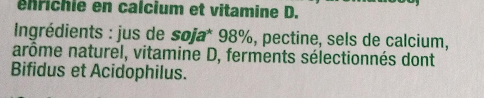 Sojasun nature sans sucre - Ingredients - fr