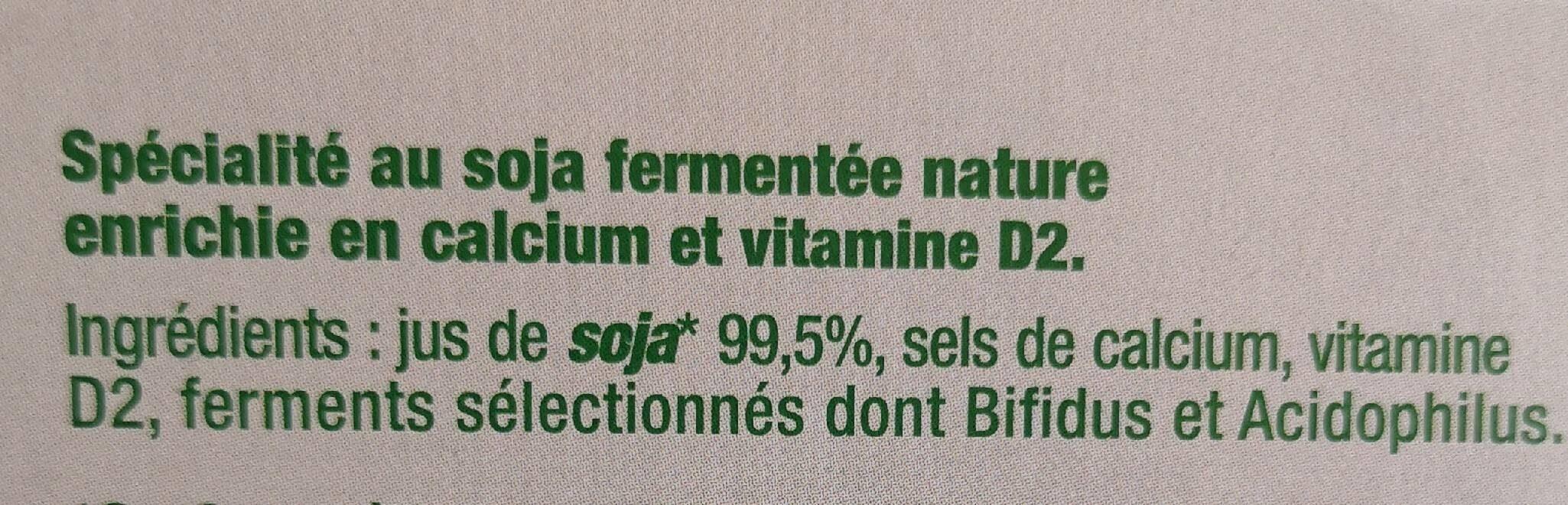 Sojasun nature sans sucre - Ingrédients
