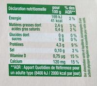 Sojasun nature sans sucre - Nutrition facts - fr