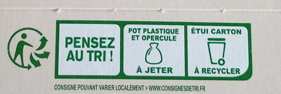 Sojasun nature sans sucre - Recycling instructions and/or packaging information - fr