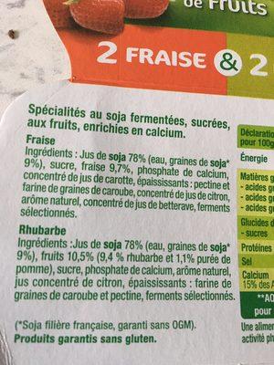 Morceaux de fruits - Ingrediënten