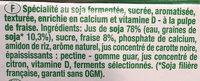 Dessert pulpe de fruits fraise - Texture Velours - Ingrédients - fr
