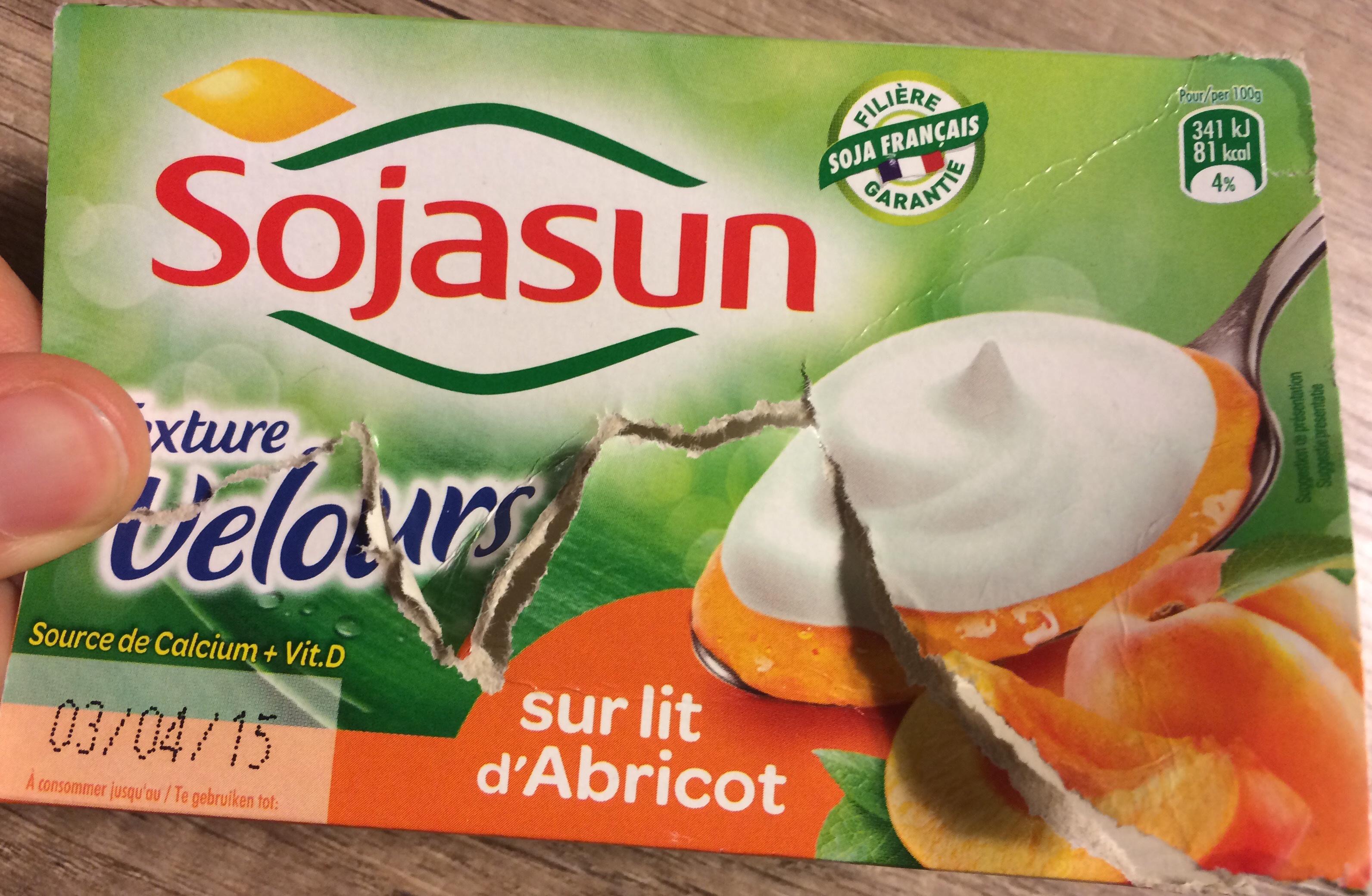 Texture Velours sur lit d'Abricot - Product