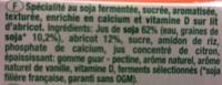 Texture Velours sur lit d'Abricot - Ingredients
