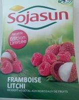 Dessert végétal aux morceaux de fruits, Framboise Litchi (4 Pots) - Product - fr
