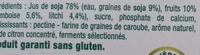 Dessert végétal aux morceaux de fruits, Framboise Litchi (4 Pots) - Ingredients - fr