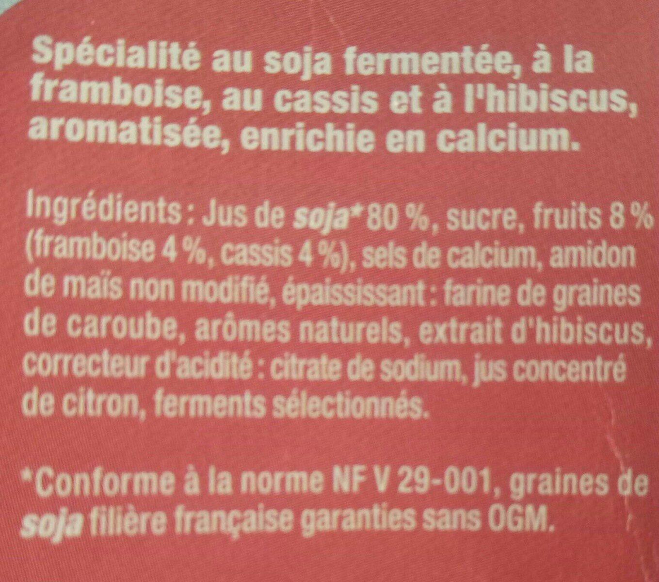 Framboise-cassis-hibiscus - Ingredients