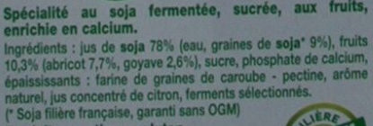 Fruits mixés (Abricot Goyave) - Ingredients - fr
