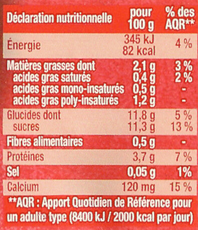 Fruits mixés (Framboise Passion) - Voedingswaarden - en