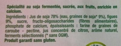 Dessert végétal, Figues (4 Pots) - Ingredients