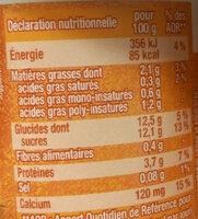 Dessert végétal, Fruits mixés (Mangue) 4 Pots - Nutrition facts