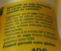 Sojasun citron - Ingredients - fr
