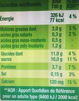 Sojasun citron - Nutrition facts - fr