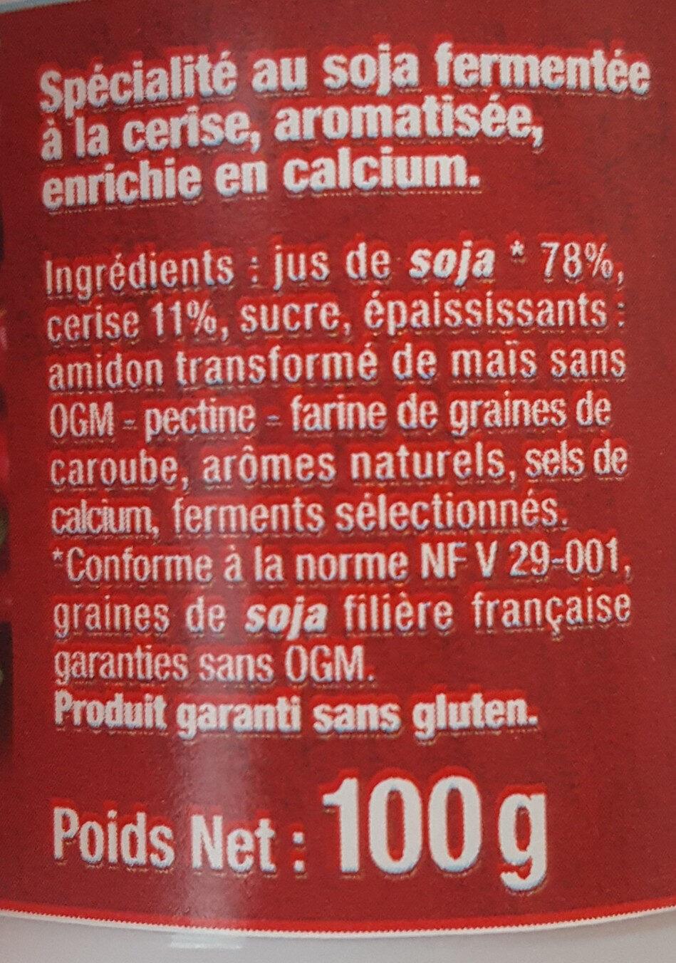 Sojasun Cerise (4 Pots) - Ingrediënten