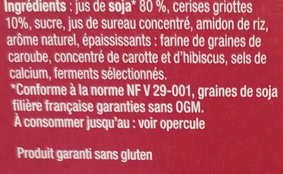 Sojasun Cerise - Ingredienti - fr