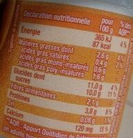Dessert végétal, Muesli & Fruits - Voedingswaarden - fr