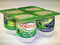 Dessert végétal, Fruits mixés (Myrtilles) 4 Pots - Produit