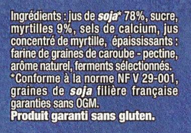 YAOURT SOJA - Ingredienti - fr