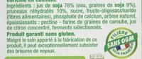 Dessert végétal, Pruneaux (4 Pots) - Ingrédients