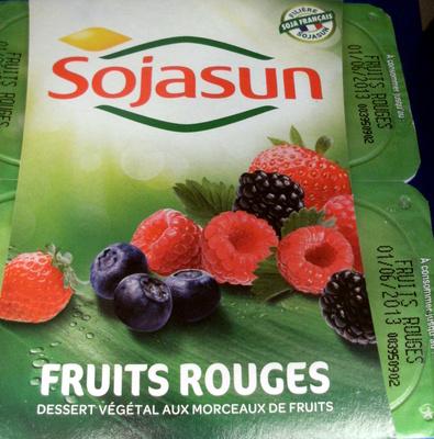 Dessert végétal aux morceaux de fruits, Fruits Rouges (4 Pots) - Produit - fr