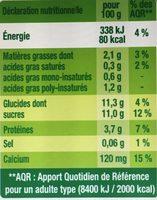 Dessert végétal aux morceaux de fruits, Fruits Rouges (4 Pots) - Informations nutritionnelles - fr
