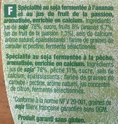 Panaché de fruits - Ananas Passion/Pêche - Ingredients - fr