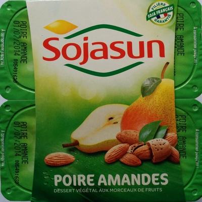 Dessert végétal aux morceaux de fruits, Poire Amandes (4 Pots) - Produit - fr