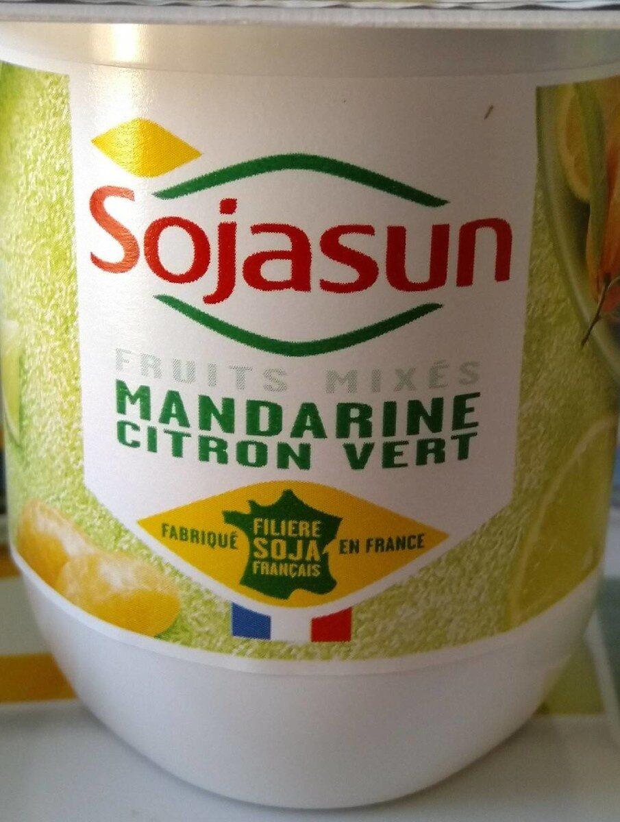 Dessert végétal, Fruits mixés (Mandarine-Citron Vert) 4 Pots - Product - fr