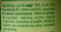 Dessert végétal, Fruits mixés (Mandarine-Citron Vert) 4 Pots - Ingrediënten - fr