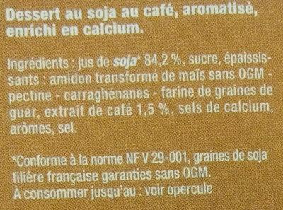 Dessert végétal café - Ingredients - fr