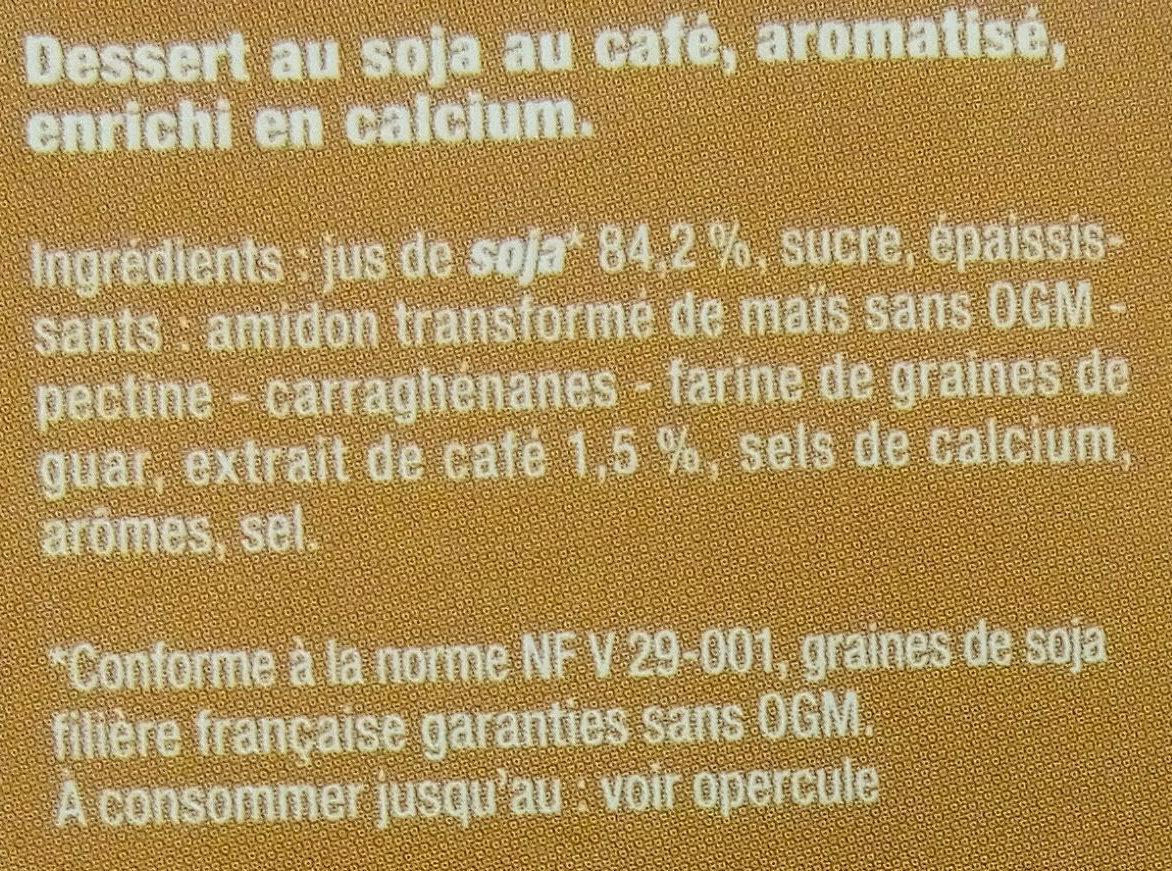 Dessert végétal au café - Ingrédients - fr