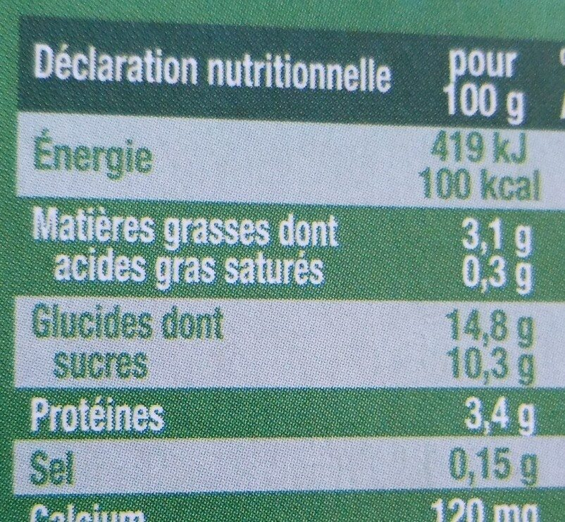 YAOURT SOJA - Nutrition facts - fr