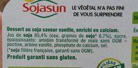 Yaourt au soja Vanille - Ingrédients - fr