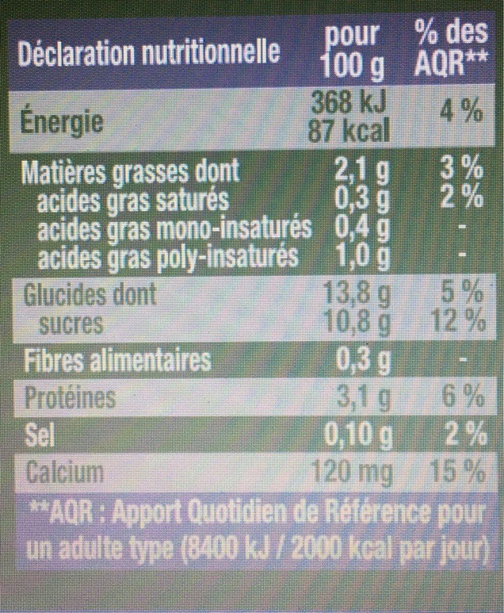 Dessert Végétal Saveur Pistache - Nutrition facts - fr