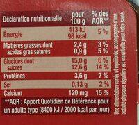 Dessert végétal chocolat intense - Informations nutritionnelles - fr