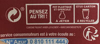 Chocolat intense - Recycling instructions and/or packaging information - fr
