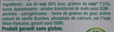 Dessert végétal, Vanille Bourbon (4 Pots) - Ingrédients