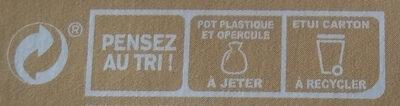 Dessert végétal, Vanille Bourbon (4 Pots) - Instruction de recyclage et/ou informations d'emballage - fr
