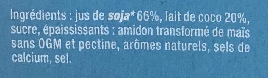 Saveur chocolat blanc coco - Ingredients - fr